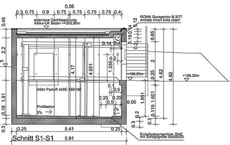 garage zeichnung neubau doppelparker und carport in wiesbaden garage und