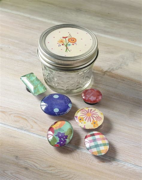 jar crafts handmade gifts diy magnets in a jar mod