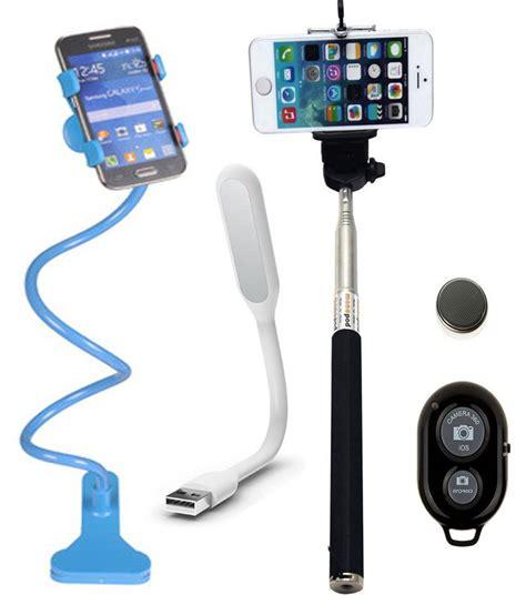 Lu Led Xiaomi iceberg makers combo of universal mobile holder stand selfie stick usb led light for apple