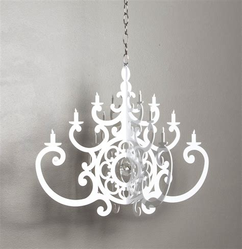 White Acrylic Chandelier New In Our Boutique Acrylic White Chandelier Mobile Crown Interiors Shop
