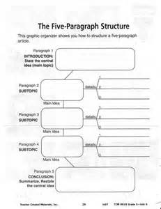 5 Paragraph Essay Graphic Organizer Pdf by Essay Graphic Organizers