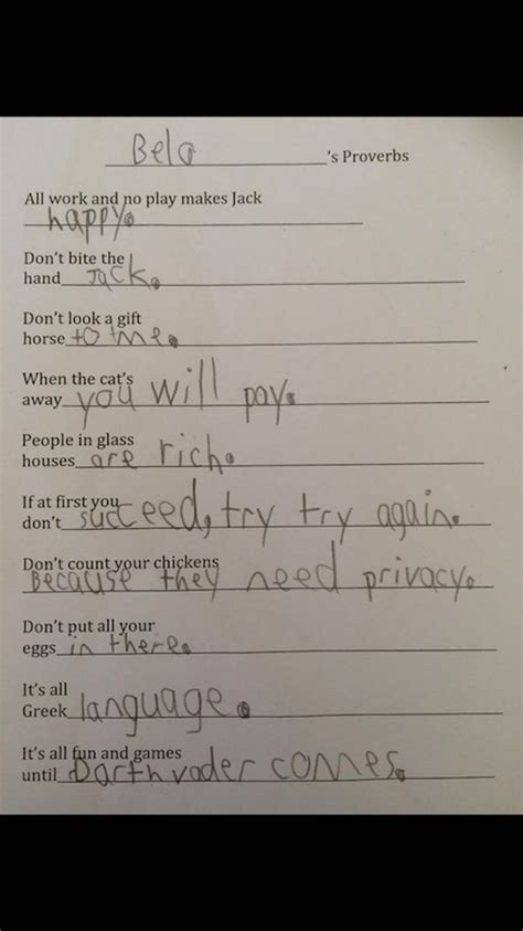 A Place To Do Homework 53 Hilarious Homework Answers From That Are So Wrong They Re Right We Give Them An A
