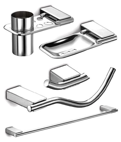 Stainless Steel Bathroom Accessories Sets Buy Dazzle Bathroom Accessories Set Of 5 High Quality 304 Grade Stainless Steel At