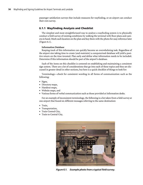 layout over meaning chapter 6 terminal wayfinding and signing guidelines
