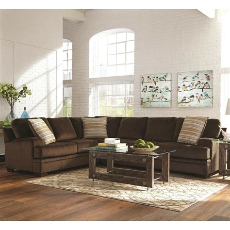 Corner Sectional Sofas by Chocolate Brown Textured Velvet Corner Sofa Sectional