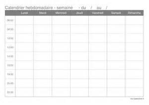 Calendrier 1 Semaine Modele Planning Hebdomadaire Gratuit Imprimer Ccmr