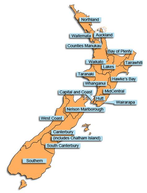us area code nz location boundaries map ministry of health nz