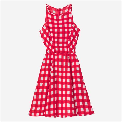 design lab red gingham dress binzento vincente hudson s bay and lord taylor launch