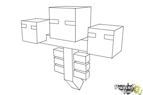 coloring pages minecraft wither how to draw wither from minecraft drawingnow