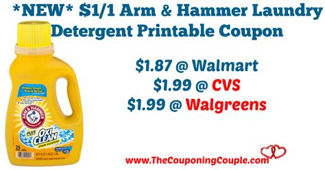 printable detergent coupons online new 1 1 arm hammer laundry detergent printable coupon
