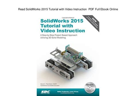 solidworks tutorial ebook read solidworks 2015 tutorial with video instruction pdf