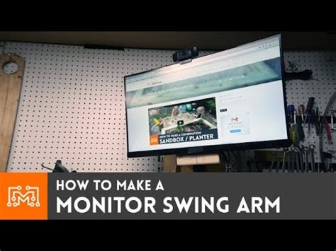 swing computer monitor swing arm for my shop computer how to