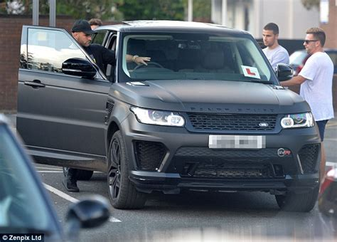 matte black range rover manchester united left back luke shaw learns to drive in