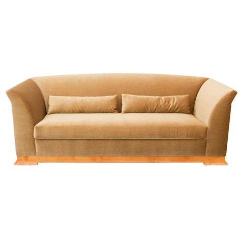deco style hugues chevalier sofa in mohair at 1stdibs