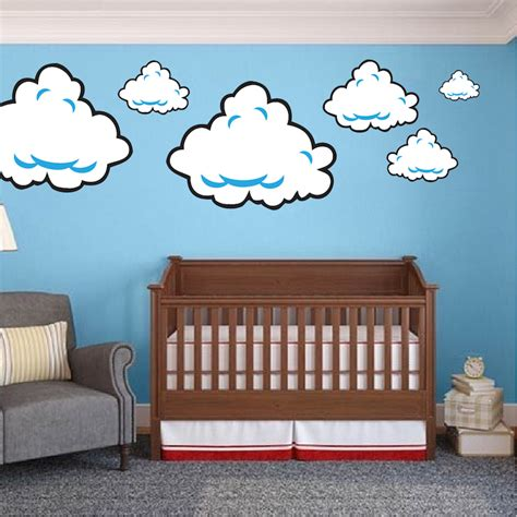 decals for room mario bros clouds wall decal bedroom stickers mario bros for wall