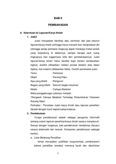 format laporan observasi yang benar format penulisan laporan