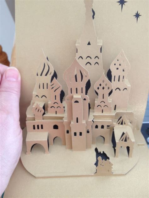 Taj Mahal Pop Up Card Template by Basil S Cathedral Origamic Architecture Pop Up Card