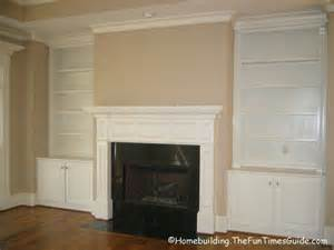 built in bookcases fireplace were there was just a place with a really mantle