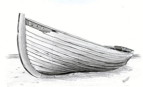 how to draw a fisherman boat abandoned drawing by rick bennett