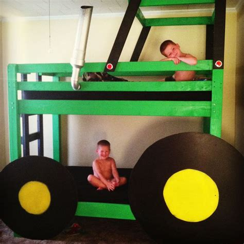 john deere tractor bunk bed john deere bunk bed we made beds pinterest john
