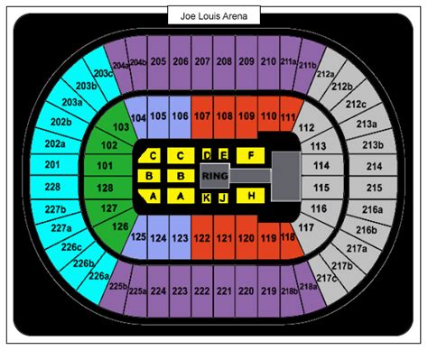 joe louis arena seat map joe louis arena seating chart myideasbedroom