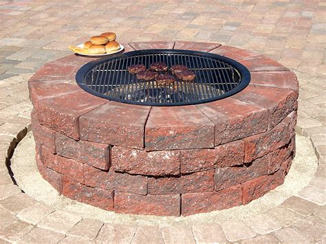 brick firepits firepits and fireplace idea photo gallery enhance