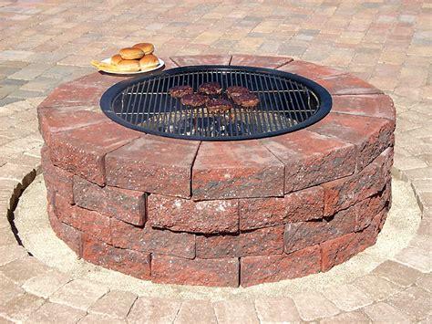 Improbable Red Brick Fire Pit Garden Landscape Brick Firepits