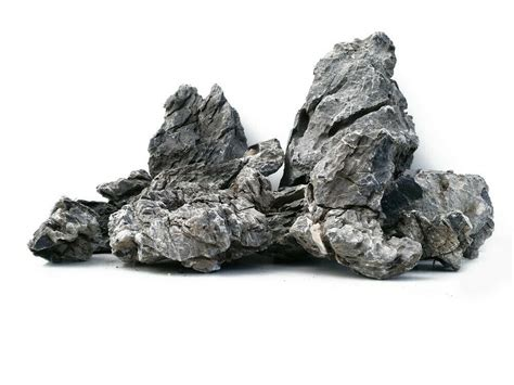 grey mountain rock aquarium iwagumi style set  stones