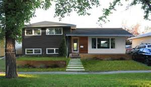 modern makeover of our 1960s split level home exterior