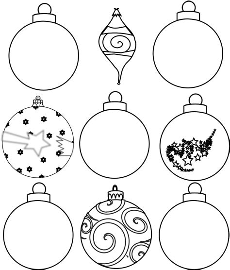 printable christmas tree baubles colour and design your own christmas ornaments printables