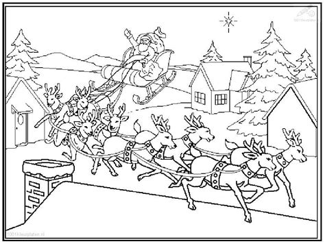 coloring page of santa in his sleigh santa sleigh coloring pages az coloring pages