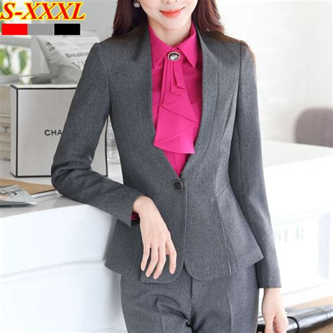 Setelan Wanita Kerja Kantor Resmi Formal Inner Blazer Celana Panjang pakaian celana resmi wanita promotion shop for promotional