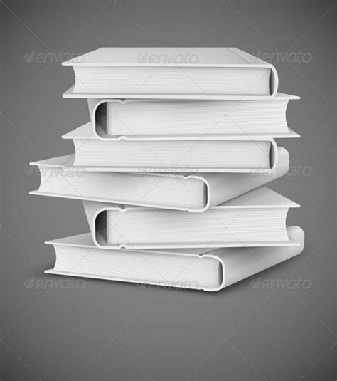 Objects With Paper - stock vector graphicriver big books pile 8270184