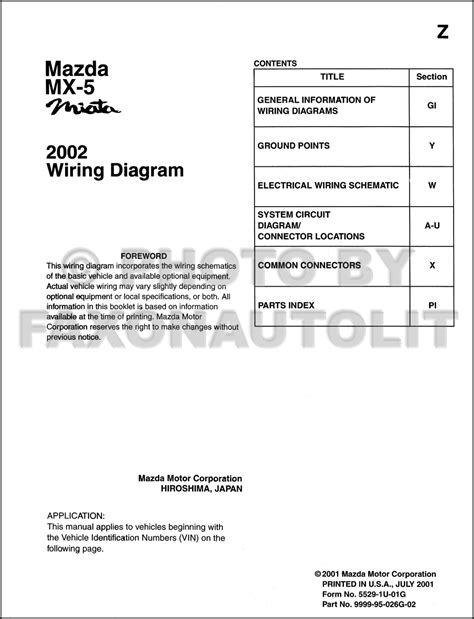 service manual pdf mazda mx 5 wiring diagram nb miata