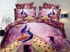 Peacock Bed Set 100 Cotton Gorgeous Peacock 3d Printed 4 Polyester Bedding Sets Beddinginn