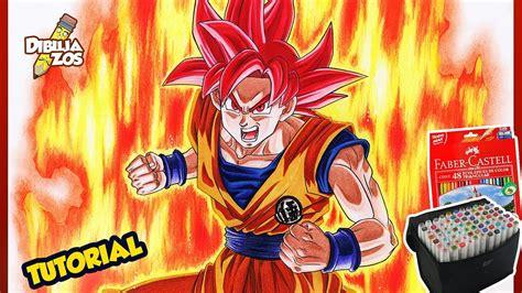 imagenes de goku rojo como dibujar a goku ssj dios rojo how to draw goku ss