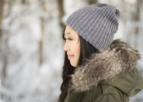 crochetpatteran for hat that looks like layers easy ribbed pom pom beanie all about ami