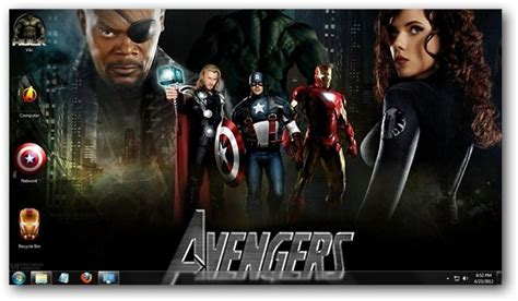 download theme windows 7 avengers the avengers theme for windows 7
