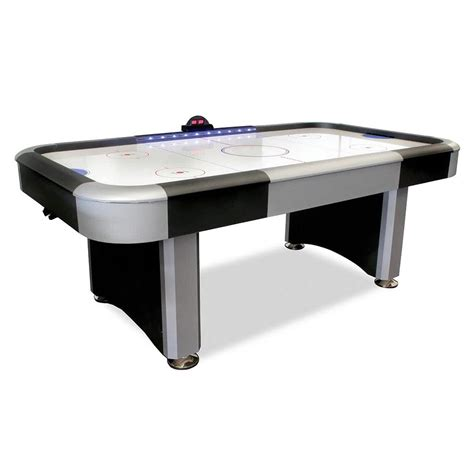 air hockey table length 7 flash interactive lighted rail air hockey table