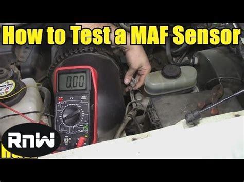 test  mass air flow maf sensor