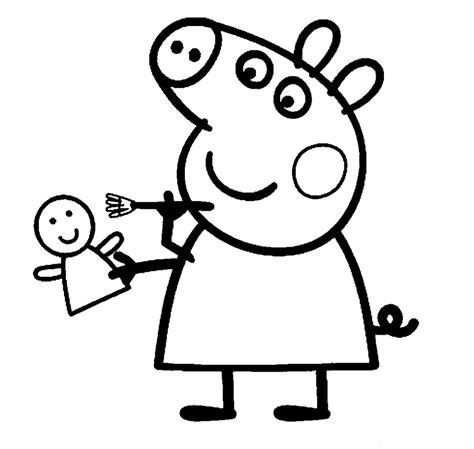 Peppa Pig Para Colorear | colorear peppa pig imagenes de dibujos animados