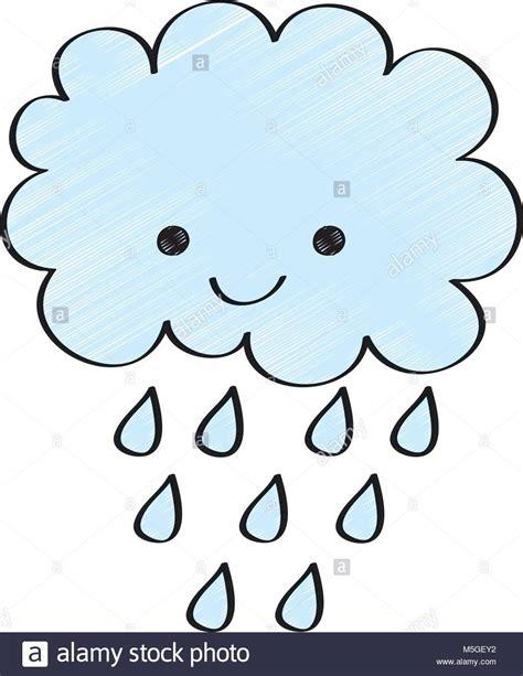 clipart pioggia carino happy cloud delle gocce di pioggia