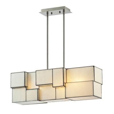 titan lighting braque collection 4 light brushed nickel