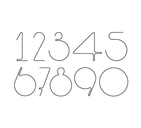 typography numbers design number font design