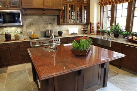 Kitchen Island With Two Different Countertop Materials Accenting Your Kitchen With A Different Color Island