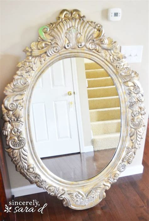 chalk paint mirror frame chalk painting tutorial painting a mirror sincerely