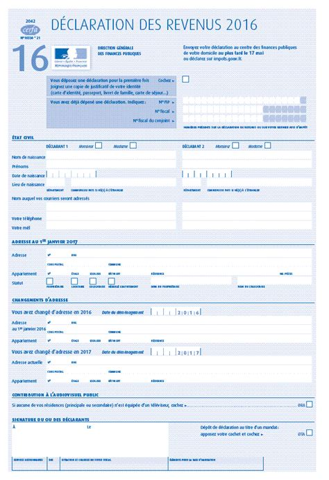 Formulaire Credit Impot Mecenat Imprim 233 S Fiscaux Exercice 2016