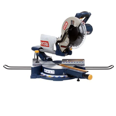 ryobi 13 10 in sliding compound miter saw with laser