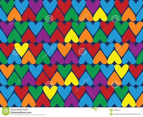 svg change pattern color seamless pattern different color hearts stock vector
