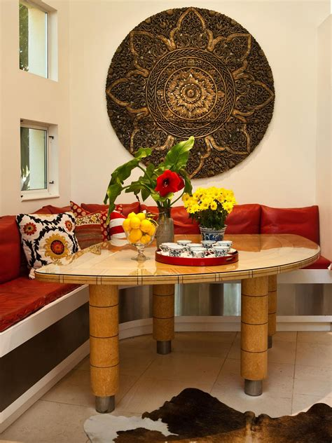 asian inspired dining banquette hgtv
